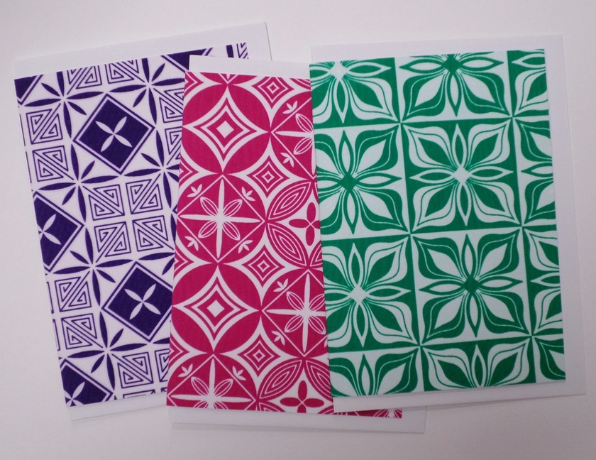 Hand screen printed greeting cards