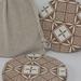 Wooden Coasters - white geometric design