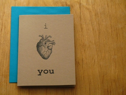 I Heart you Gift card