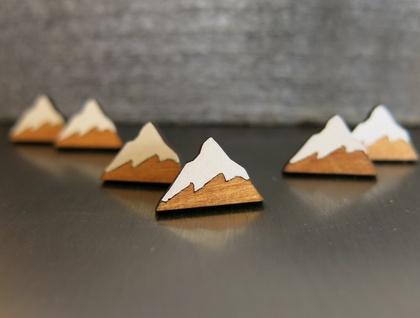 Mountain reclaimed Rimu earrings