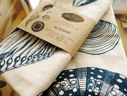 NZ Sea life Tea towel