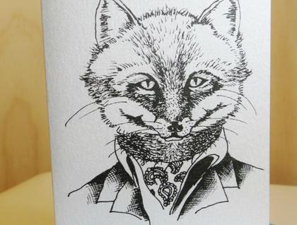 Silver Fox Card