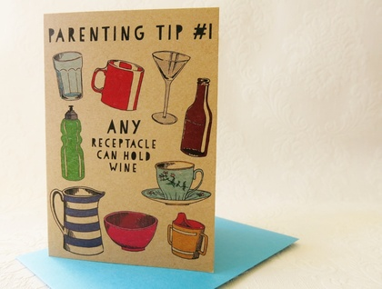New Baby Card  - Parenting Tip #1
