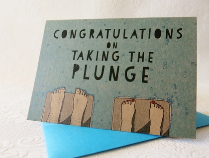 Wedding Card  - Congratulations on Taking the Plunge