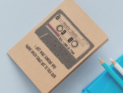 Cassette Tape Music Card