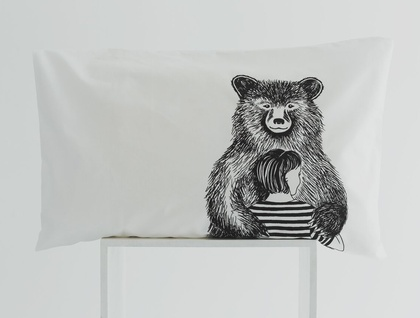 Bear Hug pillow case