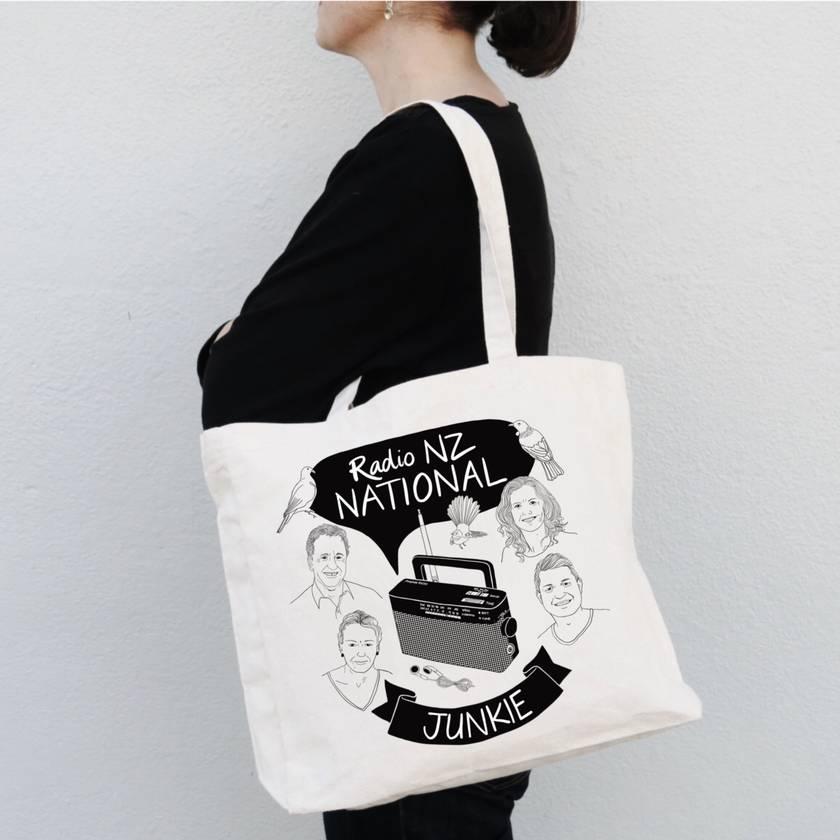 Radio NZ National Junkie Tote Bag