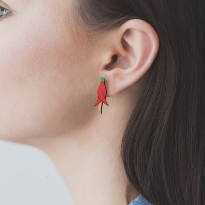 Kakabeak earrings - Rimu