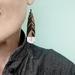 Large Hanging Huia Rimu earrings