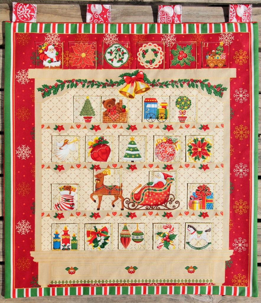 Kids Christmas Calendar : Children s christmas advent calendar quot mantelpiece felt