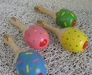 Cute mini wooden Maracas