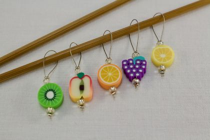 5 Fruit Salad Knitting Stitch Markers