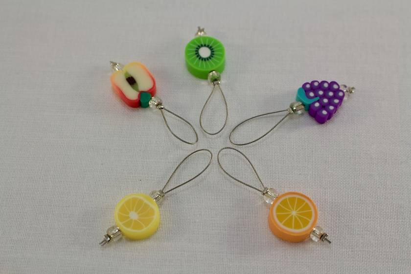 5 Fruit Salad Knitting Stitch Markers