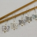 5 Clear Metal Butterfly Knitting Stitch Markers