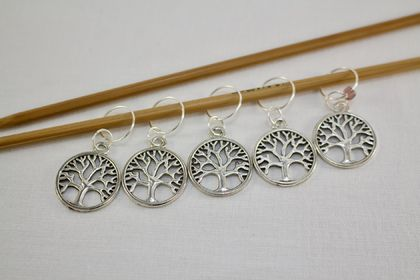 5 Tree of Life Knitting Stitch Markers