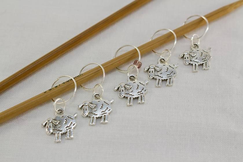 5 Sheep Knitting Stitch Markers