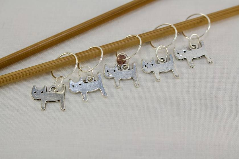 5 Cat Knitting Stitch Markers