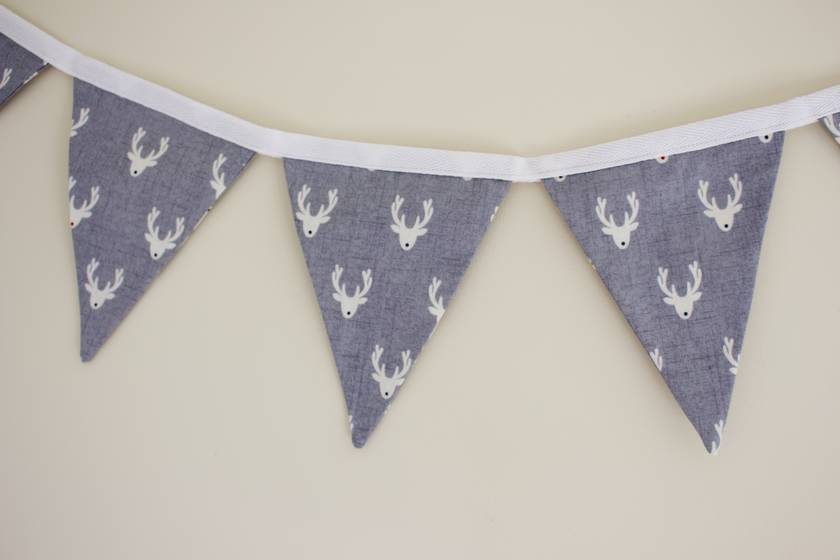 Scandi Reindeer Bunting - 2.4 Metres Double-Sided