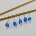 5 Blue Frosted Glass Stitch Markers