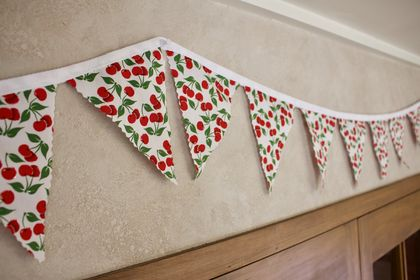 Sparkly Cherries Christmas Bunting - 3 Metres