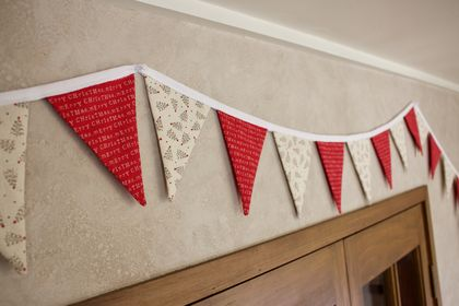 Merry Christmas Bunting - 3 Metres Double-Sided
