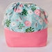 Pink & White Flowers Drawstring Bag Medium Size