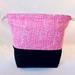 Pink Wildflowers Drawstring Bag Medium Size