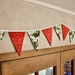 Mistletoe and Stars Bunting - 3 Metres Double-Sided