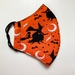 Triple Layer Adult Medium Face Mask - Halloween Witch Orange