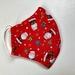 Adult Medium Face Mask - Christmas Santa Red
