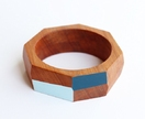 Geometric Wooden Bangle (medium)