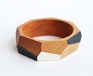 Geometric wooden bangle (65 or 70mm) + wood polish