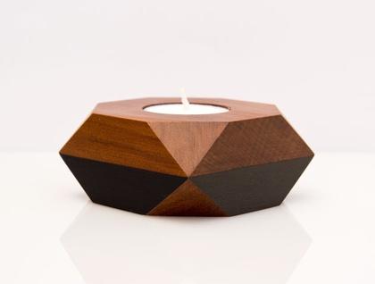 Geometric tealight holder