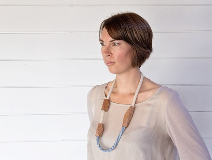 Cotton and Linen Rewarewa Necklace