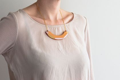 Wooden Arch Necklace