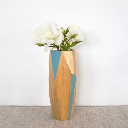 Faceted Kauri Vase
