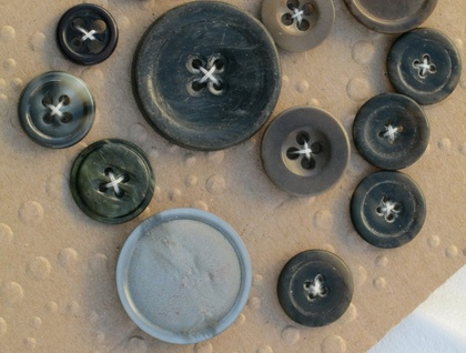 Vintage Buttons Odd ones 14 very old funky 08