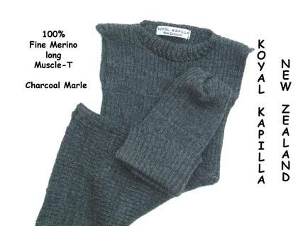 Charcoal 100% Merino Knit Dress & matching Hat
