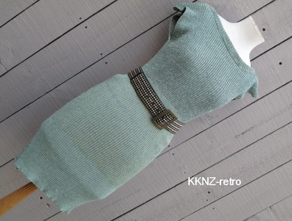 RETRO VINTAGE INSPIRED KNITTED DRESS BY KKNZ GREEN MARLE
