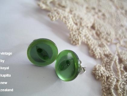 "VINTAGE ""green buttons"" by KOYAL KAPILLA NEW ZEALAND"