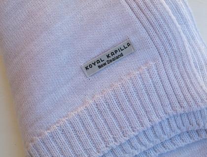 Pale Lavender Marle Merino Baby Blanket Wrap by Koyal Kapilla NZ