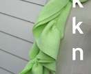 Fluro Green & White frilled scarve by Koyal Kapilla NZ