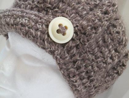 """Retro """"Vintage Crochert Button"""" hat by Koyal Kapilla NZ"""