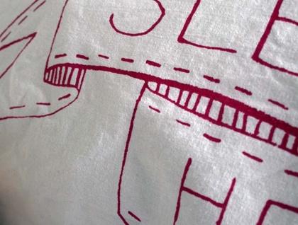 'Sleepy Head' Hand Screenprinted Pillowcase for Kids