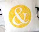'&' Cushion - Hand Screenprinted!