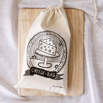 Cheese Bag - 100 % Calico Cotton