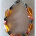 Carnelian Crystal Chip and matching  Bead Bracelet