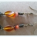Carnelian Crystal Chip and matching Bead and Buddah head charm Earrings