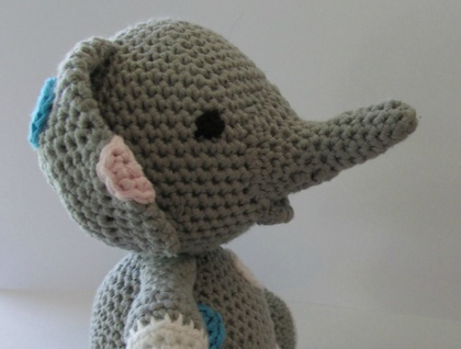 Little Grey Elephant Crochet Toy Felt
