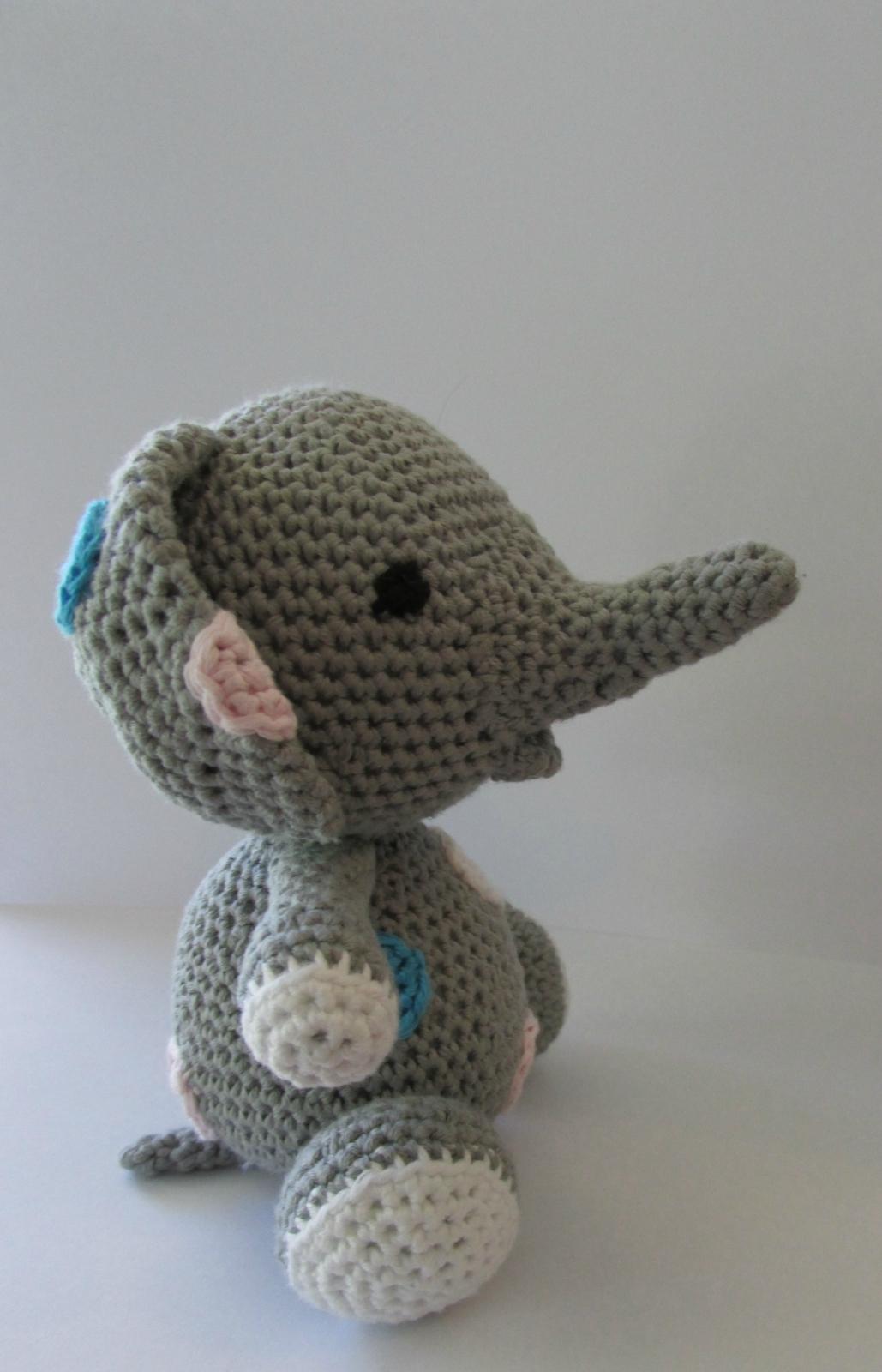 Little Grey Elephant Crochet Toy Felt